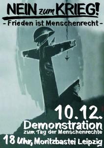 Plakat Demo Leipzig sw